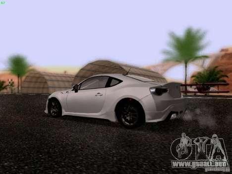 Toyota 86 TRDPerformanceLine 2012 para la visión correcta GTA San Andreas
