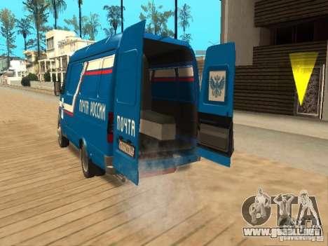 Correo 2705 gacela de Rusia para GTA San Andreas vista hacia atrás