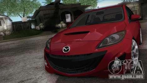 Mazda Mazdaspeed3 2010 para la visión correcta GTA San Andreas