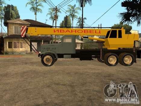 Camión KrAZ para GTA San Andreas left