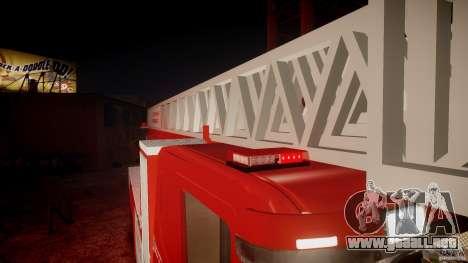 Scania Fire Ladder v1.1 Emerglights red [ELS] para GTA motor 4