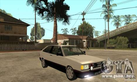 VW Gol GTS 1989 para GTA San Andreas vista hacia atrás