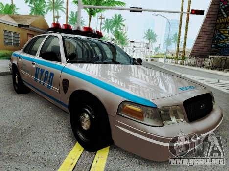 Ford Crown Victoria 2003 NYPD White para GTA San Andreas vista hacia atrás
