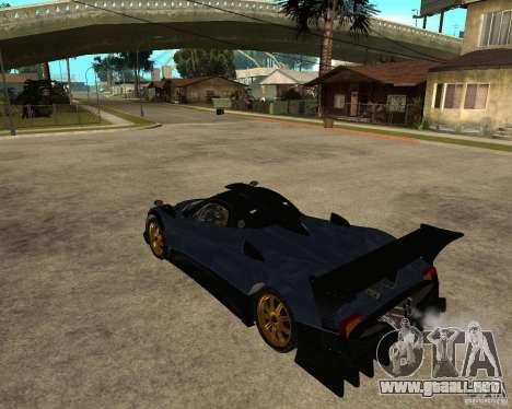 Pagani Zonda R para GTA San Andreas
