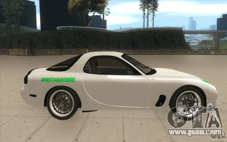 Mazda FD3S - Ebisu Style para visión interna GTA San Andreas