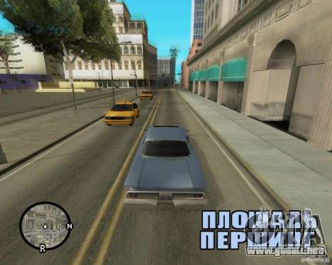 Detailed Map and Radar Mod para GTA San Andreas sucesivamente de pantalla