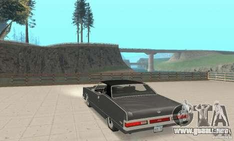 Mercury Marquis 2dr 1971 para GTA San Andreas vista posterior izquierda