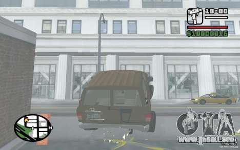 Toyota Land Cruiser 70 para visión interna GTA San Andreas