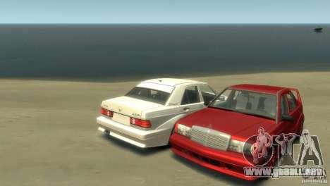 Mercedes-Benz 190E para GTA 4 Vista posterior izquierda
