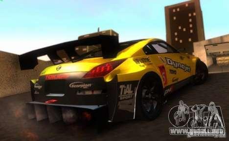 Nissan 350Z para visión interna GTA San Andreas
