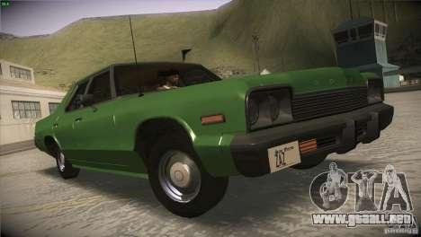 Dodge Monaco para GTA San Andreas vista posterior izquierda