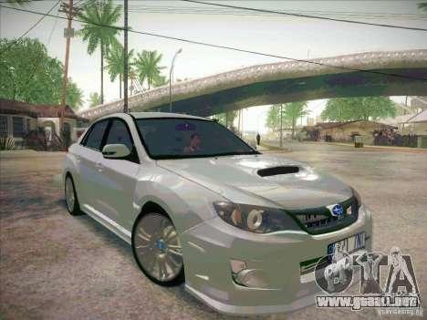 Subaru Impreza WRX STI 2011 Sedan para la visión correcta GTA San Andreas