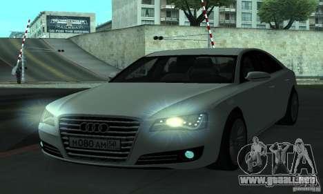 Audi A8 para vista lateral GTA San Andreas