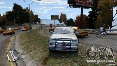 Chevrolet Suburban 2006 Police K9 UNIT para GTA 4 vista hacia atrás