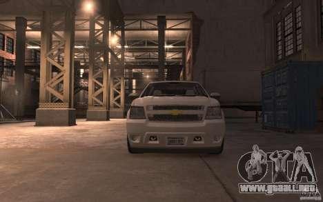 Chevrolet Avalanche v1.0 para GTA 4 vista hacia atrás