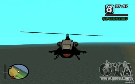 Urban Strike helicopter para GTA San Andreas left