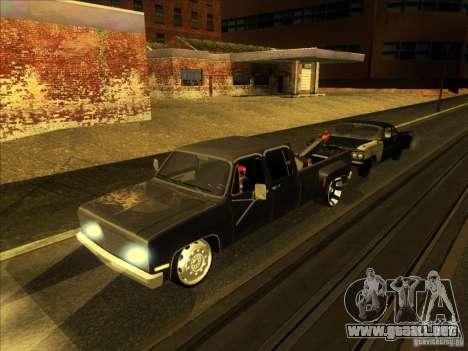 Chevrolet Silverado Towtruck para la vista superior GTA San Andreas