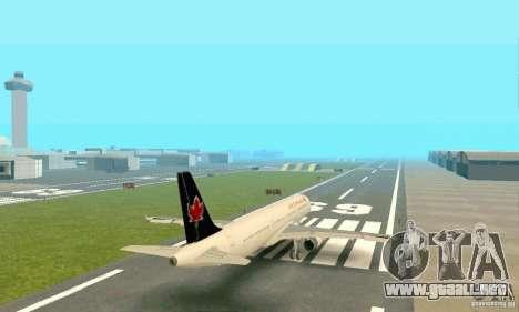 Airbus A321 Air Canada para GTA San Andreas vista hacia atrás