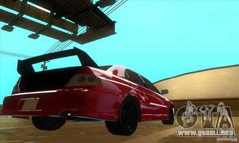 Mitsubishi Lancer Evolution IX Carbon V1.0 para GTA San Andreas left
