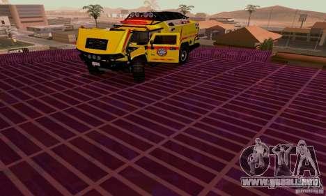 Hummer H2 Ambluance de transformadores para GTA San Andreas vista hacia atrás