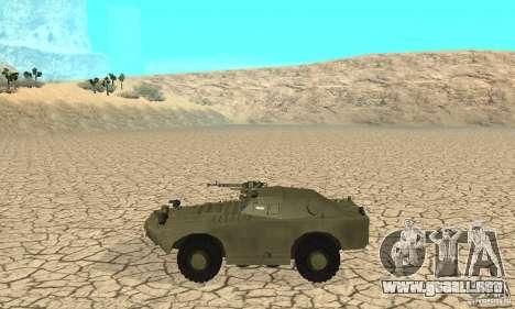 BRDM-1 piel 1 para GTA San Andreas vista posterior izquierda