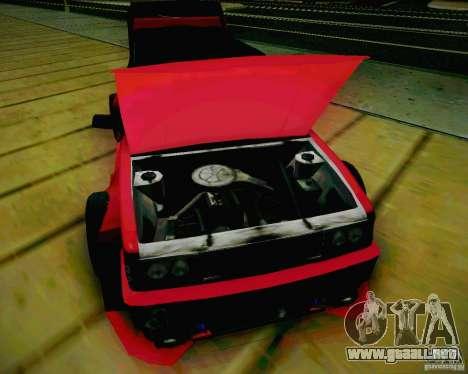 Tofas Dogan SLX DRIFT para visión interna GTA San Andreas