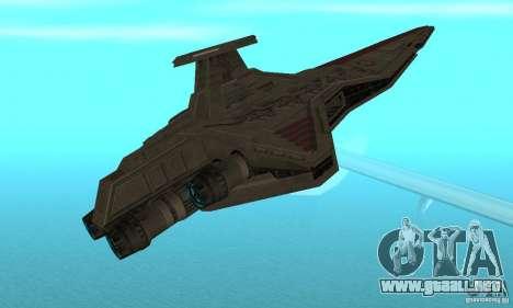 Republic Attack Cruiser Venator class v3 para la visión correcta GTA San Andreas