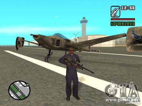 Future Army Jet para GTA San Andreas left