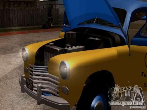 GAZ M20 Pobeda Taxi para GTA San Andreas vista hacia atrás