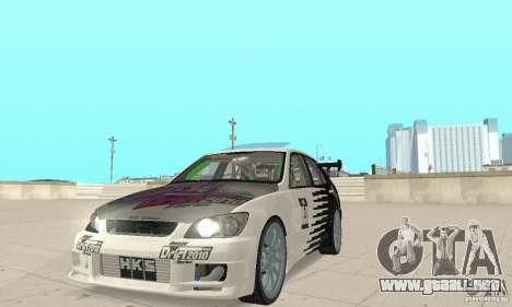 Lexus IS300 Drift Style para GTA San Andreas