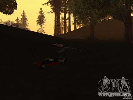 Pak versión doméstica armas 2 para GTA San Andreas quinta pantalla