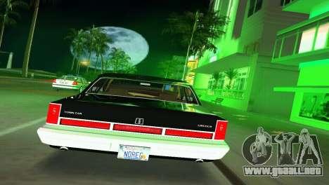 Lincoln Town Car 1997 para GTA Vice City visión correcta