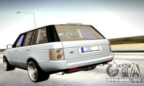 Range Rover Supercharged para GTA San Andreas left
