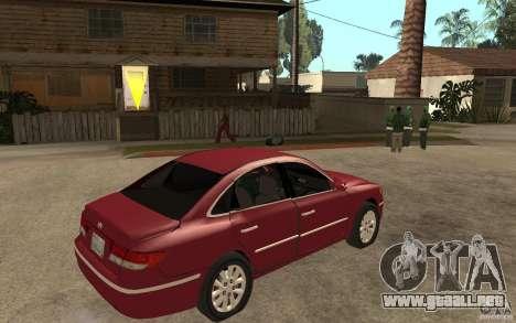 Hyundai Azera 2009 para la visión correcta GTA San Andreas
