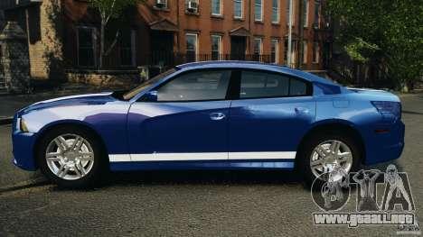 Dodge Charger Unmarked Police 2012 [ELS] para GTA 4 left