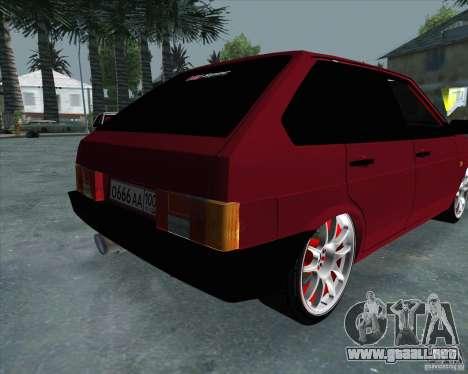 VAZ 2109 Drift para GTA San Andreas vista hacia atrás