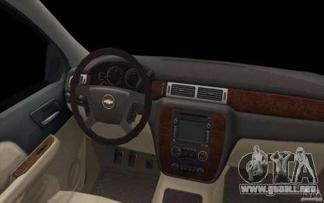 Chevrolet Suburban para la vista superior GTA San Andreas
