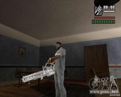 Ametralladora de cromo para GTA San Andreas segunda pantalla