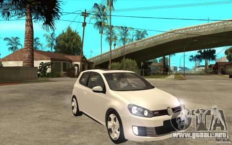 VW Golf 6 GTI para GTA San Andreas vista hacia atrás