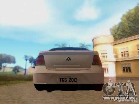 Volkswagen Voyage G5 Roda Passat CC para la visión correcta GTA San Andreas