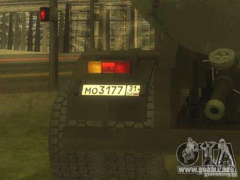 Cemento remolque TC-12 para GTA San Andreas vista hacia atrás