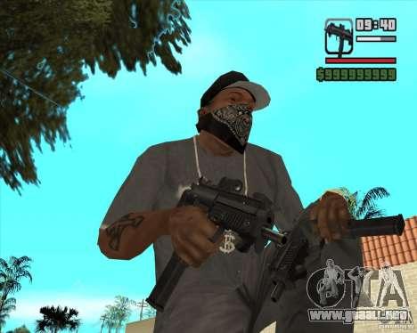 New Micro uzi HD para GTA San Andreas segunda pantalla