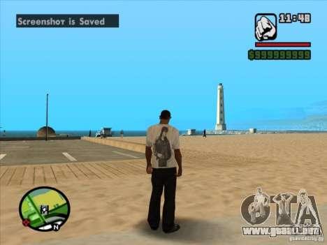Camiseta Peliculas para GTA San Andreas sucesivamente de pantalla