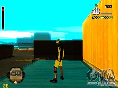 Piel vago v3 para GTA San Andreas tercera pantalla