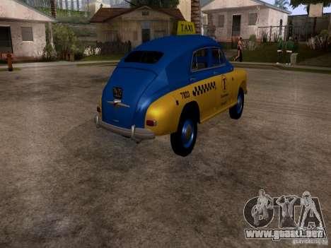 GAZ M20 Pobeda Taxi para GTA San Andreas vista posterior izquierda
