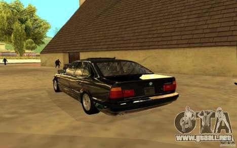 BMW 525 (E34) para GTA San Andreas vista hacia atrás