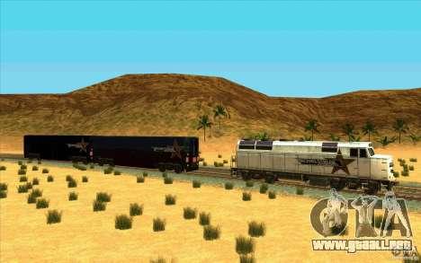 Desenganche de vagones para GTA San Andreas segunda pantalla