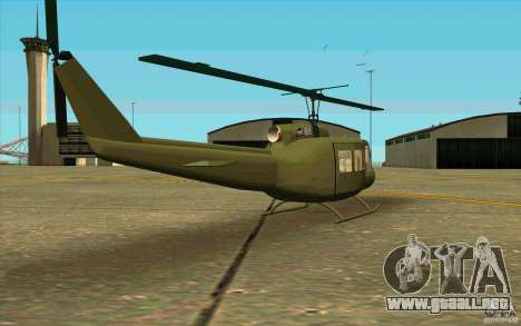 UH-1D Slick para la visión correcta GTA San Andreas