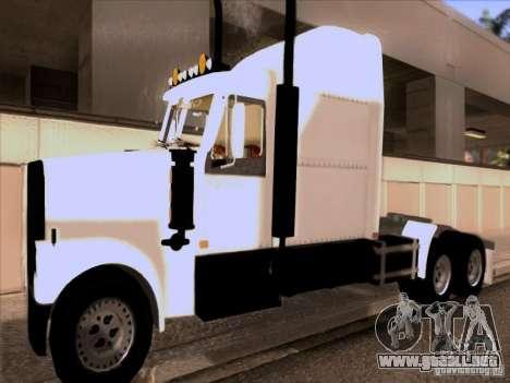 Western Star 4900EX skin 1 para GTA San Andreas left