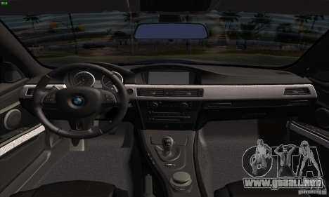 BMW M3 E92 2008 para la visión correcta GTA San Andreas